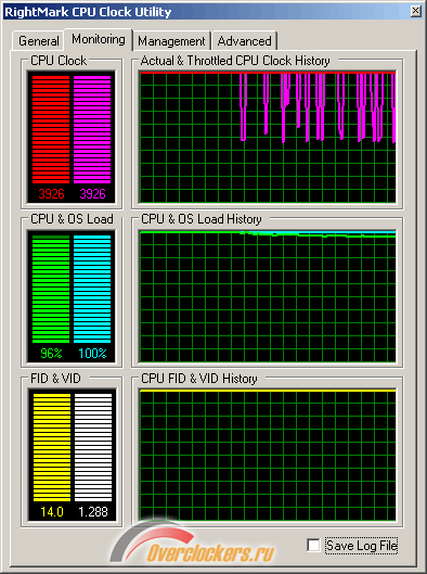RightMark CPU Clock Utility, разгон процессора, overclocking